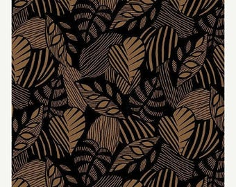 AUG10 Sgraffito Leaf Clay By Elise K-By The Yard Item #10102-77
