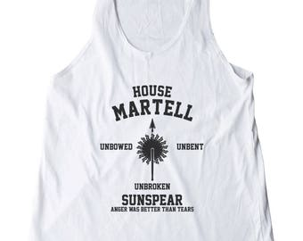 House Martell Shirt Game of Thrones Shirt Fashion Shirt Ladies Gifts Funny Top Fitness Tank Top Women Shirt Racerback Shirt Gifts Lady Shirt