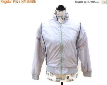 20% OFF Vintage 80's Windbreaker, Pastel Purple Wind Jacket, Women's Size Small