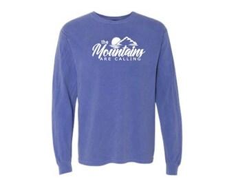Long Sleeve T-shirt - Long Sleeve Tee - Comfort Colors Shirt - Mountain Shirt - Shirt For Mountain Lovers - Colorado Shirt - Shirt For Hiker