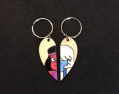 Ruby and Sapphire Heart Pendants from Steven Universe