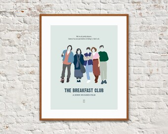 THE BREAKFAST CLUB - Minimalist Poster, John Hughes Movies, Molly Ringwald, Alternative Poster, Ferris Bueller, Sixteen Candles