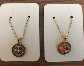 Glass Cabochon Necklaces