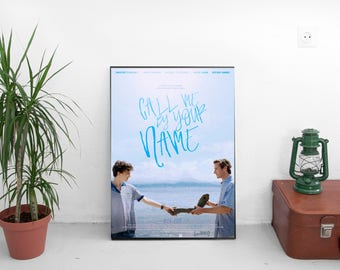 """Call Me By Your Name Movie Poster - Luca Guadagnino Film - With Armie Hammer Timothée Chalamet - Art Print Size 13x20"""" 24x36"""" 27x40"""""""