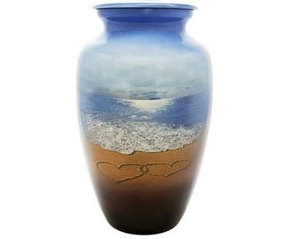 Love the Beach Hand Crafted  Urn for Ashes