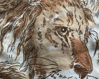 "Vintage 1970's Flat Sheet ""Simba"" Pattern by Bibbs"