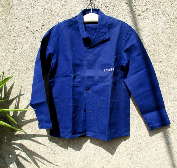 Vintage French chore jacket, industrial workwear, Unworn deadstock. Size XL
