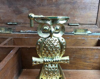 Vintage Wise Owl Earring Tree Stand