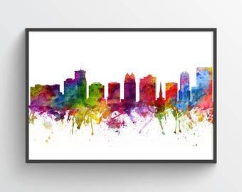Orlando Skyline Poster, OrlandoArt print, Orlando Cityscape, Orlando Art, Orlando Decor, Home Decor, Gift Idea, USFLOR06P