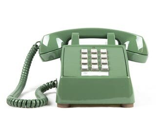 Meticulously Refurbished Vintage Touch Tone Telephone - ITT - Olive Green
