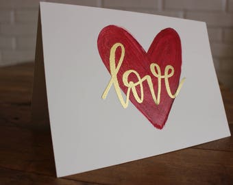 Embossed Valentine's Day Card