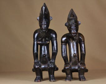 Couple of Senoufo statuettes from Côte d'Ivoire