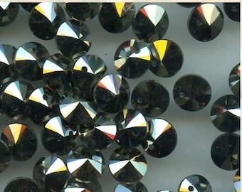 6428 6 lg *** 8 Swarovski mini pendants 6mm ref. 6428 metallic light gold
