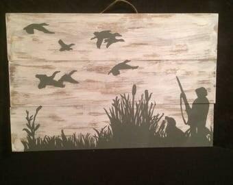 Duck Hunting Scene