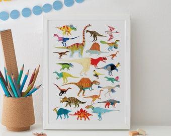 Dinosaurs Print A4