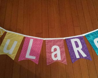LuLaRoe FABRIC Banner, Photo Prop,  Flags, Garland, Pennant