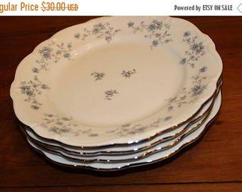 "30% OFF Sale Vintage Johann Haviland Blue Garland Bavaria Dinner Plates Set of 4 10 1/2"" Plates"