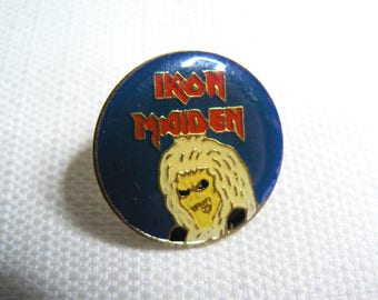 Vintage 80s Iron Maiden - Eddie - Enamel Pin / Button / Badge