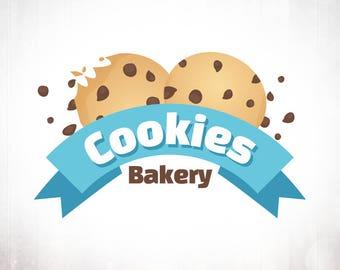 Premade Logo Design • Chocolate Chip Cookies Bakery