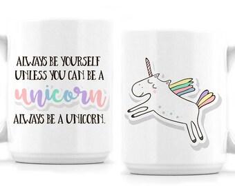Unicorn Mug - Rainbow - Unicorn - Double Sided Design