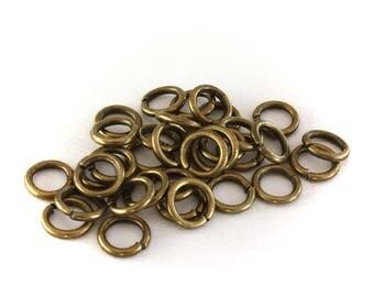 50 jump rings jump bronze 7 mm