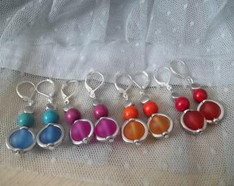 The colors of summer earrings pendants