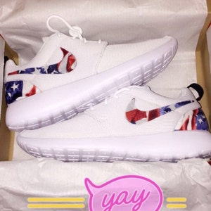 29e44cd30be Nike Roshe Run Red Marble American Flag.Affordable LIMITED STOCK ...
