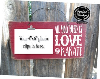 karate, karate belt display, karate kid, karate party favors, karate gift, gift for karate, all you need is love and karate