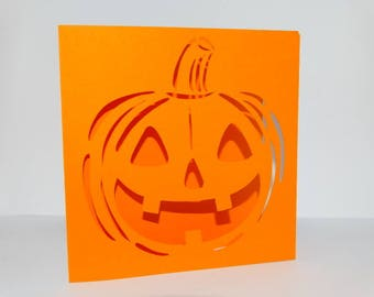 Pumpkin halloween - themed card halloween pumpkin card