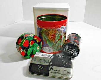 Advertising Swag,Advertising Tins,Tins,Boy Scout Tin, Whiskers Cat Tin,Black Strawberry Tin,Graphic Tin,Kitty Cat Tin,Patriotic Tin,Cute Tin