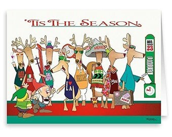 Time for Work! Funny Christmas Card - 18 Funny Christmas Cards & Envelopes - 20050