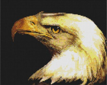 Bald Eagle Cross Stitch Pattern