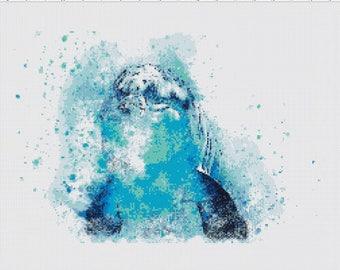 Bottlenose Dolphin Cross Stitch Pattern