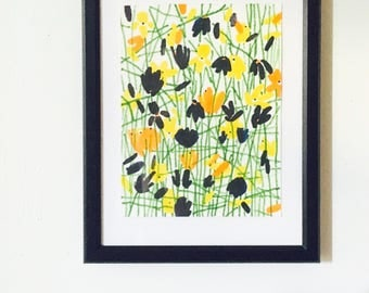 Yellow, Marigold & Black