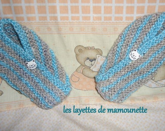 baby grey and blue size 18 (3 months) and 19 (6 months):