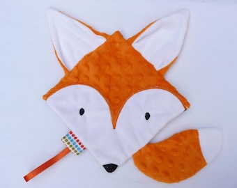 Foxy pacifier cuddly blanket