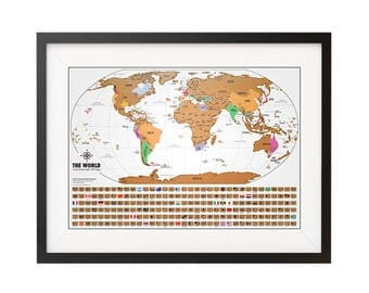 Scratch Map Etsy - Us travel tracking map