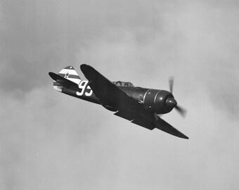 Black and White Vintage Air Plane Print, Plane Photography, Black and White Air Plane Wall Art, Black Plane Art Prints