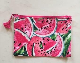 Watermelon pouch - purse - makeup-shopping