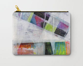 Abstract Art Accessory Pouch, Makeup Pouch, Unique Bags, Cosmetic Pouch, Pouch Stand Up, Pencil Pouch, Back To School Gift