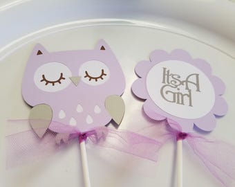 Owl Baby Shower Centerpiece Sticks, Owl Its A Girl, Owl Centerpiece, Owl  Decorations