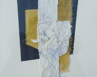 """Painting - Collage 6-mixedmedia-material-abstract-informal.Size 11,8""""x15,7"""""""