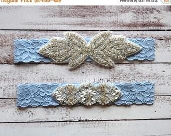 ON SALE Wedding Garter, NO Slip Lace Wedding Garter Set, bridal garter set, pearl and rhinestone garter set, vintage rhinestones Style A1094