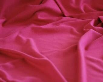 Cerise - C-Pauli Solid - Organic Cotton Double knit UK Seller