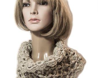 PDF Pattern Puff Stitch Cowl Women Cowl Winter scarf,crochet patterns Crocheting