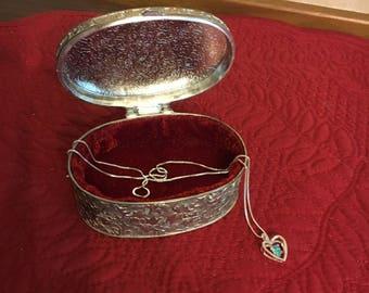 Vintage Trinket Jewelry Box