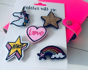 Patches with pin 5 pieces (SE01)
