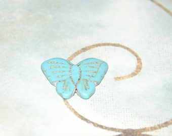 Turquoise Butterfly small size 26x20mm