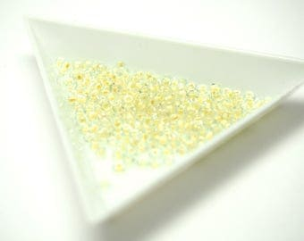 Yellow seed beads clear 2mm - 15g sachet