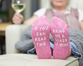 Novelty socks, Funny socks, Wine Socks, If You Can Read This, Bring Me Wine, Gift for her, Wedding Party Socks, Wedding Socks
